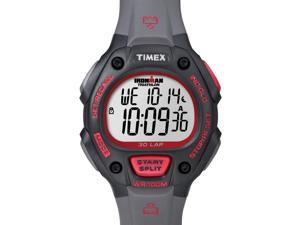 Timex Digital Men's Watch - Ironman  30-Lap Full Size | Black Case w Red Accents