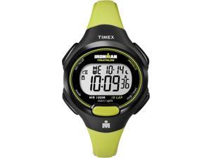 Timex Digital Women's Watch Ironman 10-Lap Mid Size Black Case Lime Green Strap