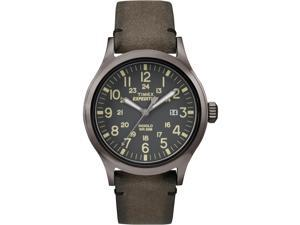 Timex Expedition Scout | Brown Leather Strap Gray Dial Date | Outdoor TW4B01700