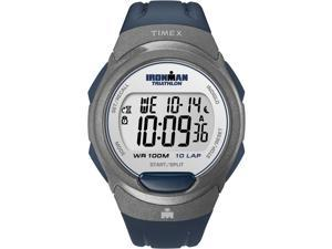 Timex Digital Men's Watch - Ironman 10-Lap Full Size | Gray Case Blue Strap