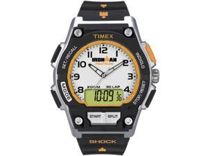 Timex Men's Ironman | Shock Silver-Tone Case Black Resin Strap | T5K200