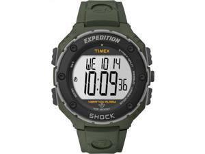 Timex Expedition T49951 Men's Digital Shock Green Case Green Resin Strap