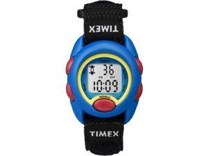 Timex Youth Kids Digital Black Velcro Strap Blue Case StopWatch Watch TW7B99600