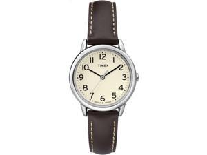 Timex Women's South Street | Leather Band Cream Dial | Casual Watch TW2P59500