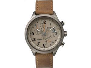 Timex Men's Intelligent Quartz | Fly-Back Chronograph Date Tan Dial | TW2P78900