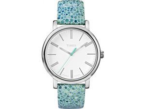Timex Women's Originals | Sea Blue Mosaic Strap Roman Numerals Watch T2P324
