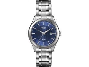 Timex Men's Blake Street | Silver-Tone Bracelet Blue Dial | Dress Watch T2N976