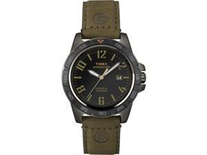 Timex Expedition Men's | Rugged Gunmetal Case Brown Leather Strap | T49926