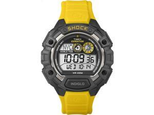 Timex T49974 Men's Yellow Band Expedition Shock World Time Alarm Chrono Watch