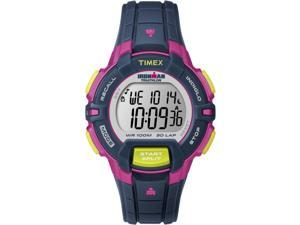 Timex Women's Ironman | Rugged 30-Lap Mid-Size Blue/Pink/Lime Sport Watch T5K813