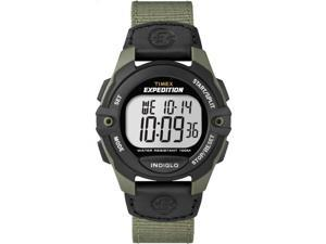 Timex Men's Expedition | Full-Size Digital CAT Black & Green Nylon Strap T49993