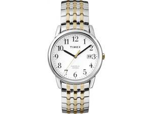 Timex Mens Easy Reader Two-Tone Band Silver-Tone Case Dress Fashion Watch T2P295