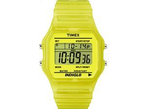 Timex Classic Digital | Yellow Translucent Case and Strap | Watch T2N808