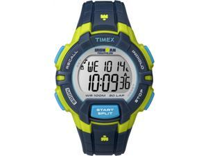 Timex Men's Ironman Rugged 30 Full-Size Blue/Lime Watch