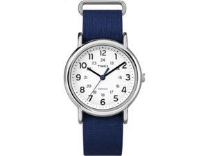 Timex Unisex Weekender Rip-Stop | Blue Strap Silver-Tone Case | Watch TW2P65800