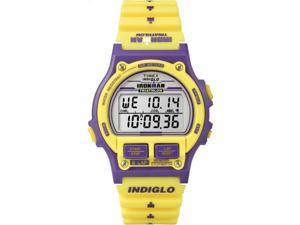 Timex T5K840 Ironman Triathlon Original 8-Lap Timer Yellow/Purple Sport Watch
