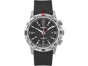 Timex Men's Intelligent Quartz | Compass Black Dial & Silicone Strap | T2P285