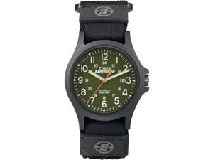 Timex Men's Expedition Acadia | Black Green Dial Watch 24 Hour | TW4B00100
