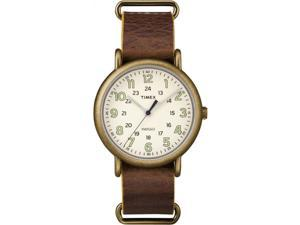 Timex Men's Weekender Oversized | Genuine Leather Strap 24-Hour Time | TW2P85700