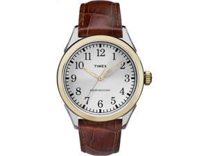 Timex Men's Briarwood Terrace | Leather Strap & Silver-Tone Dial | TW2P99500