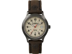 Timex Men's Expedition   Analog Core Black Case Brown Leather Strap   T49955