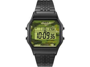 Timex 80 | Vintage Camoflage Dial Stainless Steel | Digital Watch TW2P67100