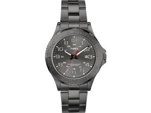 Timex Men's Elevated Classics | Gunmetal Case & Grey Band | Dress Watch T2P390