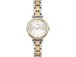 Timex Women's Elevated Classics | Two-Tone Case & Bracelet | Dress Watch T2P201