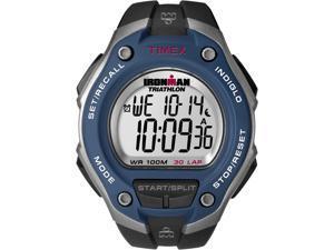 Timex Digital Men's Watch - Ironman 30-Lap Oversize | Blue Case w Black Strap