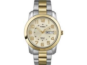 Timex Men's | Gold-Tone Dial Two-Tone Case Date 24-Hour | Date Watch T2N439