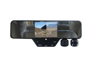 FalconZero F360 HD DVR Dual Dash Cam, Rear View Mirror, 1080p, 32GB SD Card Included,