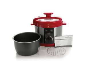 Wolfgang Puck Rapid Pressure Cooker Automatic 5 Quart RED