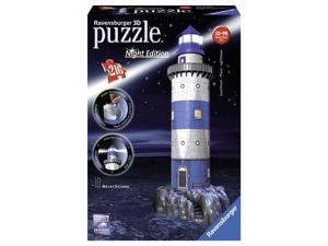 Lighthouse Night Edition 216 Piece 3D Puzzle by Ravensburger
