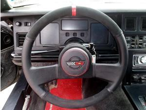 Chevrolet Corvette C4 1984-89 steering wheel cover by RedlineGoods