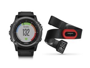 Garmin Fenix 3 HR Gray Performer Bundle - GPS Watch Wrist Heart Rate Run Latest Model Sapphire