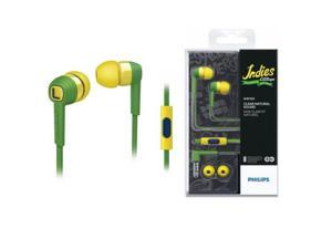 Philips SHE7055BZ CitiScape Headphones For Smartphones SHE7055 Green/Yellow