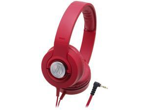 Audio-Technica ATH-WS33X/RD Headphones Solid Bass ATHWS33X Red /GENUINE