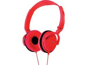 Coby CV-H806RD Folding Stereo Headphones CVH806 Red