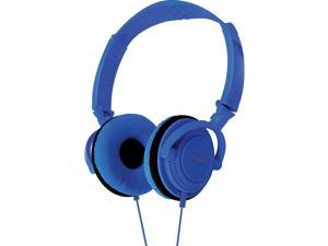Coby CV-H806BL Folding Stereo Headphones CVH806 Blue