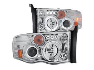 Chrome/Clear Halo Projector Headlights - Anzo