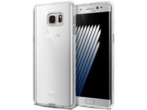 Galaxy NOTE 7 Case, [Ultra Slim Fit] Goospery® Clear Jelly Case *Transparent* [Anti-Yellowing + Anti-Discoloring Finish] TPU Cover [Shock Absorption] for Samsung Galaxy NOTE 7 - Clear