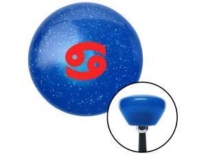 American Shifter Company ASCSNX1610577 Red Cancer Blue Retro Metal Flake Shift Knob fits celestial zodiac astrology