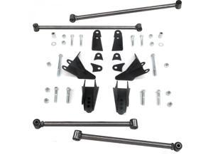 Helix Suspension Brakes and Steering LH213324 1985 Dodge D150 Heavy Duty Triangulated Rear Suspension Four 4 Link Kit ~ rod