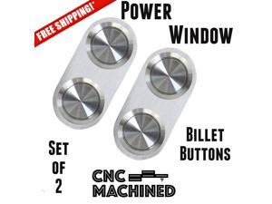 1961 - 1972 Lincoln Premium Power Window Buttons strengthen 2 button 12v brushed switch repair driver aluminum enhance switch combo complement boost two switches custom modern jdm build up front