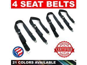 American Safety GHT512554 1934 - 1940 Nash 2Pt Lap Seat Belt Black safety bench 4 pack point amsafe