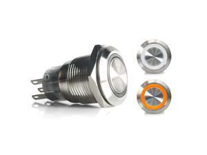 19mm Momentary Billet Buttons with LED White or Orange Ring xtreme component 510 small block bbs gasser 427 apu racing sbc car accessories hemi dune buggy backup racing uconnect bbc jdm sbc 428 line