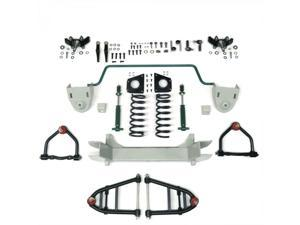 Helix Suspension Brakes and Steering HEXIFS1062399SBK2DROP Mustang II 2 IFS Front End kit for 66-74 Nova Stage 2 Standard Spindle