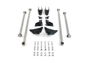 Helix Suspension Brakes and Steering XS4LNIK195684 Heavy Duty Triangulated Rear Suspension Four 4 Link Kit ~ Stainless Steel Universal Stage 1