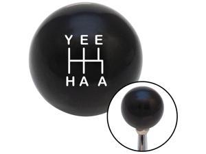 American Shifter Company BYT516609 White YeeHaa 5 Speed Black Shift Knob fits fuel style speed dawg jdm gearhead sh