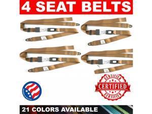 American Safety VQL523440 1966 - 1967 Chevrolet Chevy II Nova SS 327 4 Adjustable Tan Seat Lap Belt